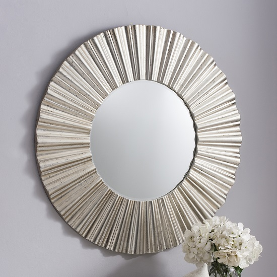 Cardew Round Wall Mirror Silver Gallery - Home Decorating: White Furniture How To Make Your Room Contrast