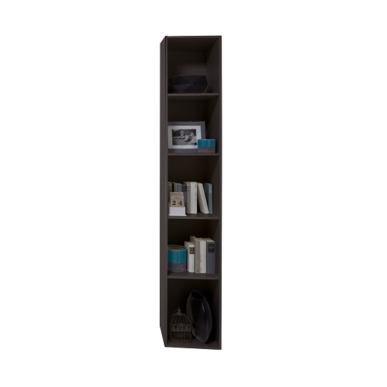 Clovis Shelving Unit In Lave Front Carcase With Concrete Insert
