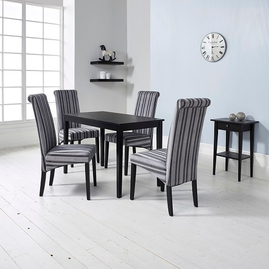 Grey dining table shop for cheap furniture and save online for Grey and black dining chairs