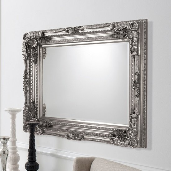 Buy cheap silver wall mirror compare house accessories for Inexpensive framed mirrors