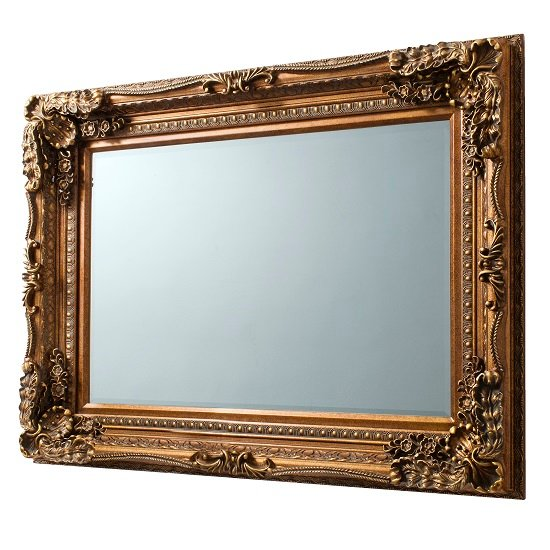 Louisa Baroque Style Wall Mirror Rectangular In Gold_3