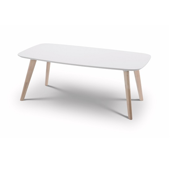 coffee table rectangular in white and limed oak