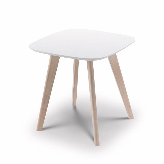 Bramley Lamp Table Square In White And Limed Oak