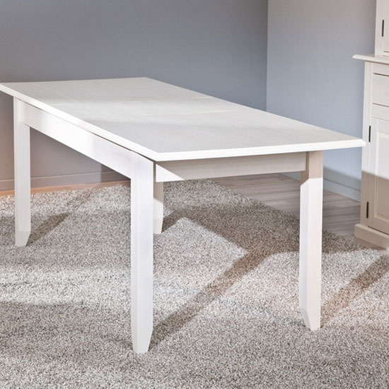 Cassala1 Extendable Dining Table In White