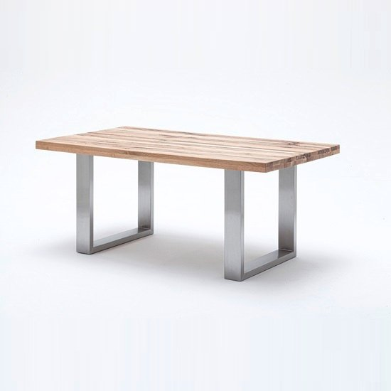 Capello Wild Oak Dining Table With Stainless Steel Legs 180cm