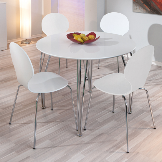 Small white dining table and chairs the best inspiration for Furniture in fashion
