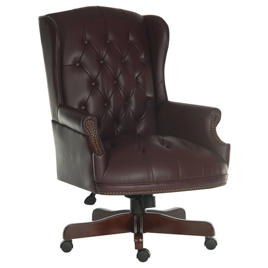 Chairman Brown Traditional Leather Executive Chair_1