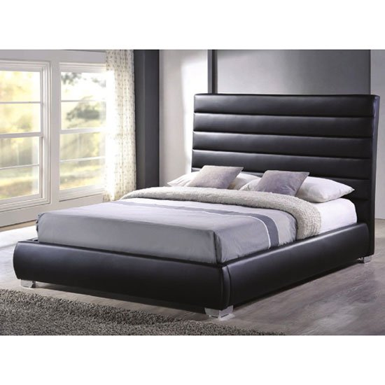 Chessington Black Faux Leather Double Bed