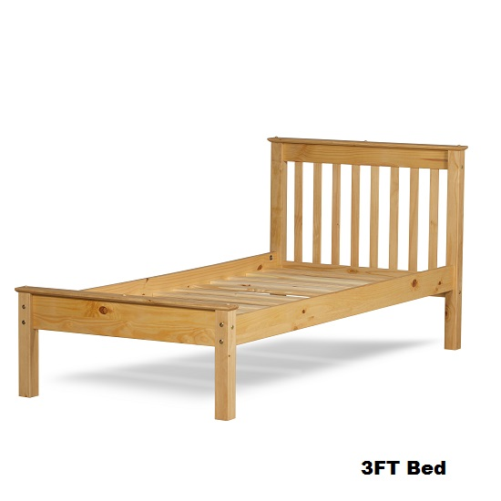 Chester Wooden Bed In Waxed Pine_2