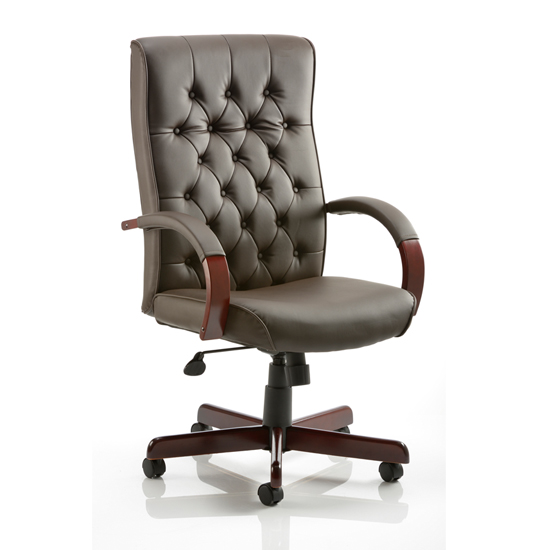 Chesterfield Office Chairs In Brown