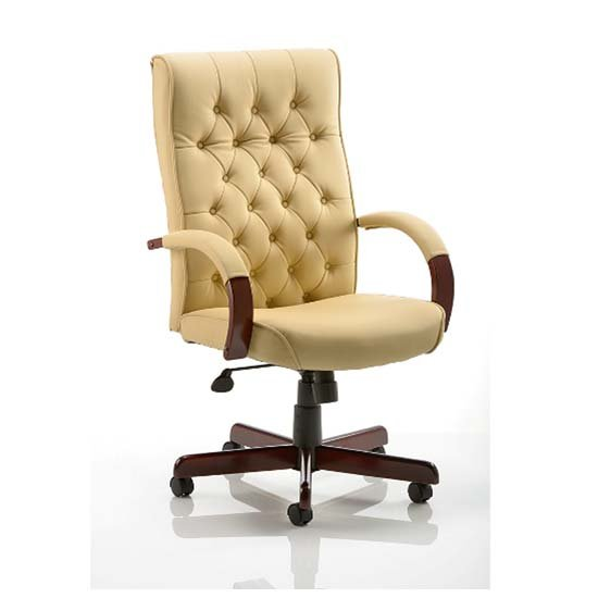 chesterfield cream colour office chair 17341 furniture in