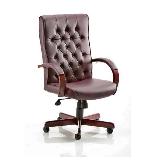 Chesterfield Burgundy Colour Office Chair