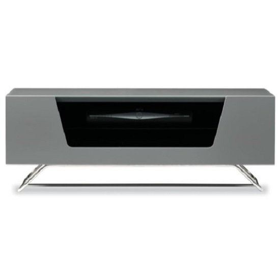 Romi LCD TV Stand In Grey With Chrome Base_4