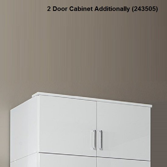 Alton Corner Wardrobe In High Gloss Alpine White With Mirror 4