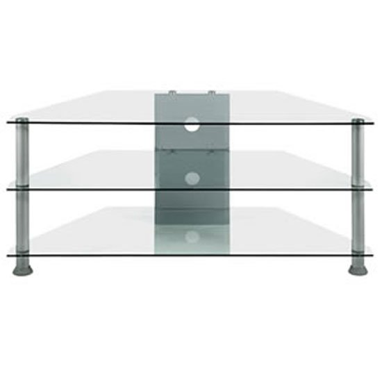 7 Series Clear Glass Tv Stand