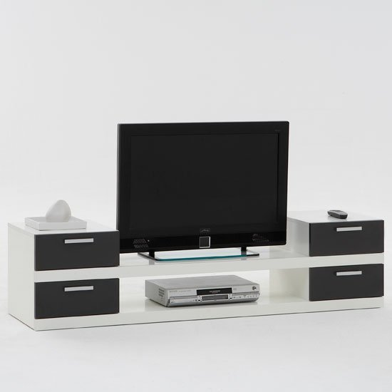 Clever white black tv stand - Television Terms, What Does Flat Panel Mean