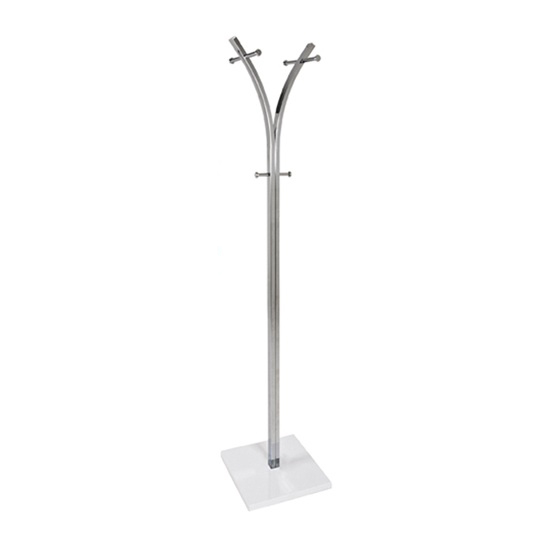 Gustav Coat Stand In White And Chrome