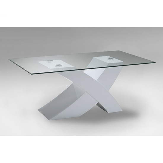 11 White Gloss Oval Coffee Table Inspiration: X Glass Dining Table In White High Gloss Base And 6 Z Chairs
