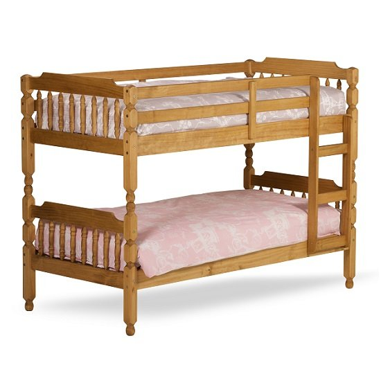 Colonial Wooden Single Bunk Bed In Waxed Pine_2