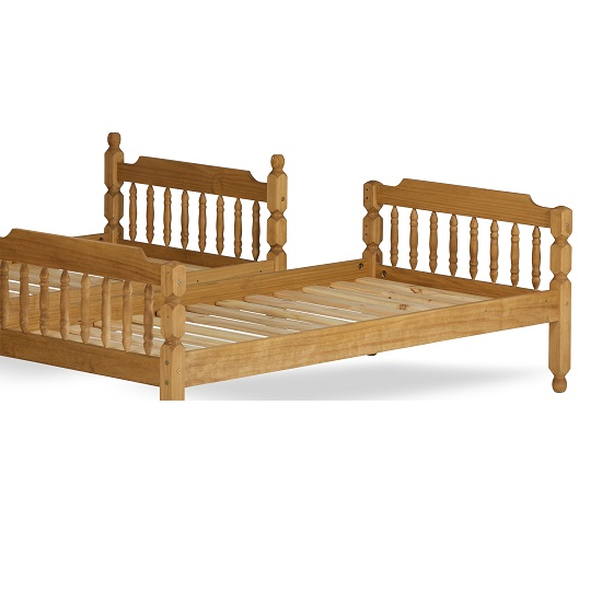 Colonial Wooden Single Bunk Bed In Waxed Pine 27437