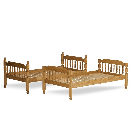 Colonial Wooden Single Bunk Bed In Waxed Pine_5