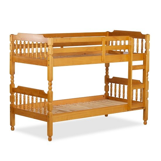 Colonial Wooden Single Bunk Bed In Honey 27436 Furniture In