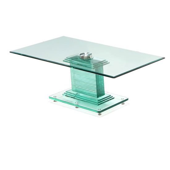 Columbus Rectangular Glass Coffee Table