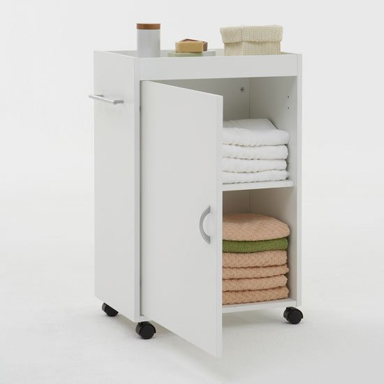 Cordoba white bathroom trolley
