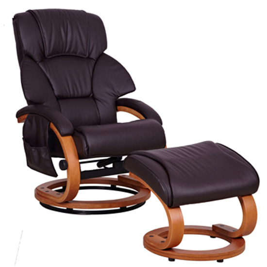 Cordoba Brown Relax Chair with Footstool COR01