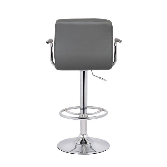 Gino Glass Bar Table With 2 Glenn Bar Stools In Grey 27190