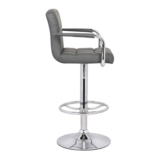 Glenn Bar Stool In Grey Faux Leather in A Pair_4