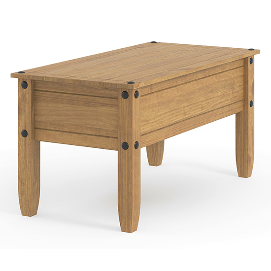Corina Wooden Coffee Table In Antique Wax Finish_3