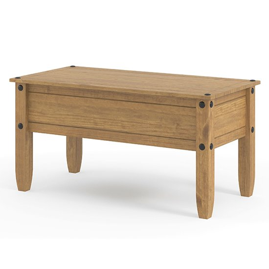 Corina Wooden Coffee Table In Antique Wax Finish_1
