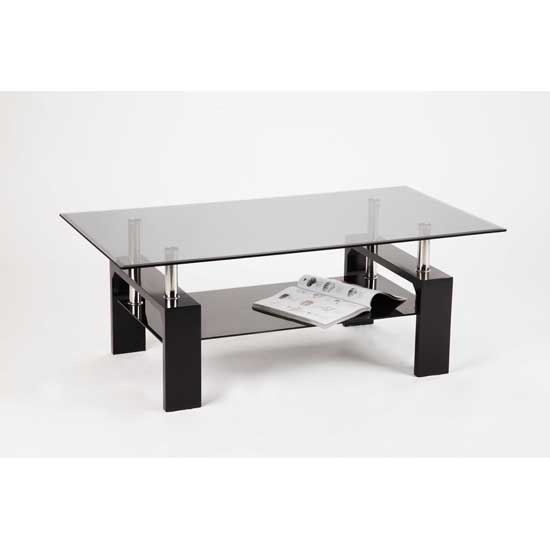 Cosmo Smoke Glass Coffee Table with Gloss Legs