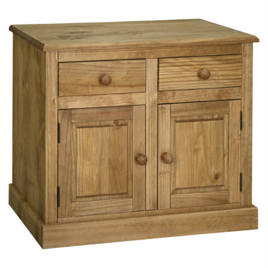 Cotswold Compact Sideboard In Oak With 2 Doors And 2 Drawers