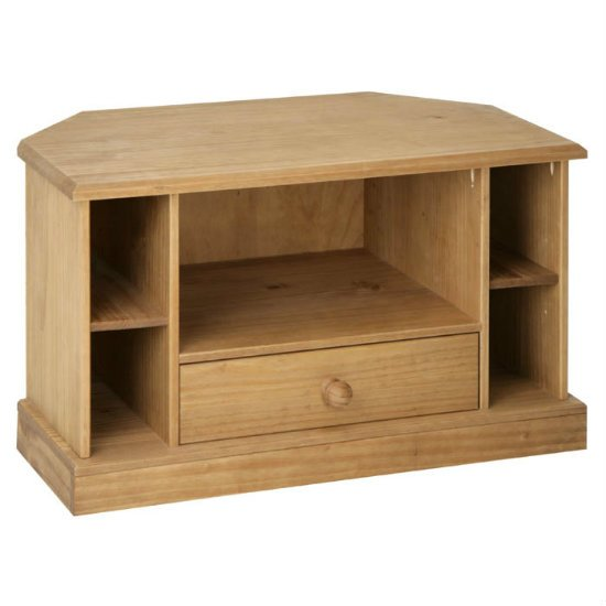 Cotswold Corner TV Cabinet CT910 - 6 Reasons To Go With Wooden Corner TV Stands For Flat Screens