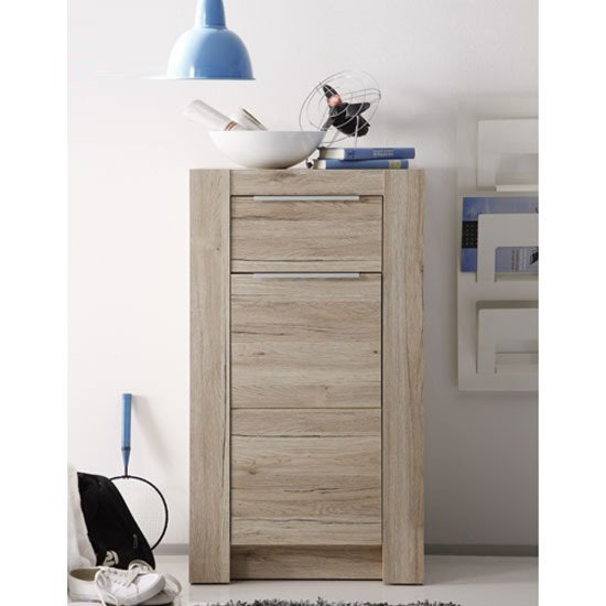 Read more about Cougar oak finish 1 drawer chest with 1 door