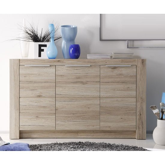Cougar Wooden Sideboard In Oak With 3 Doors