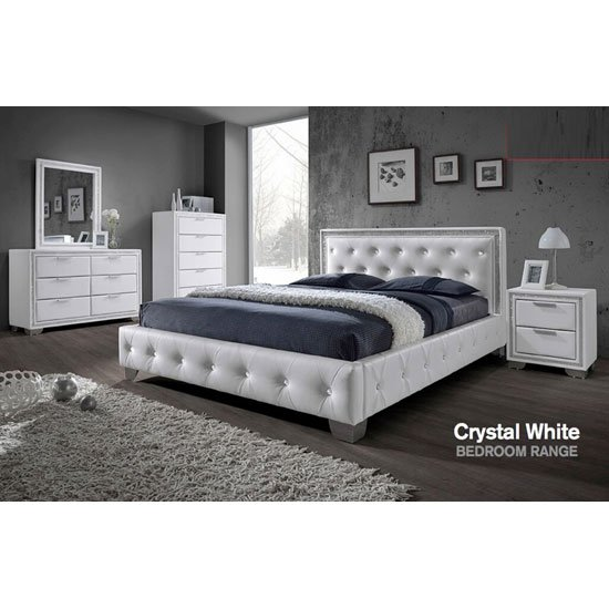Crystal white bedroomset - Furniture Packages: Fantastic Furniture Ideas For Different Interiors