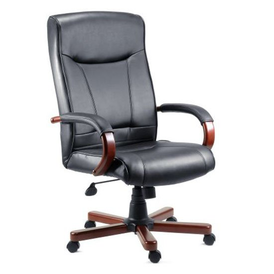 Kingston Mahogany Executive Leather Chair