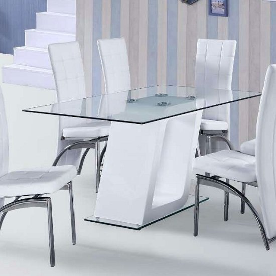 actona pisa dining table and 4 chairs go