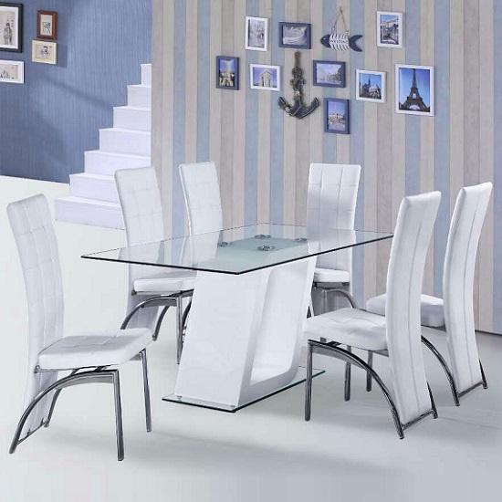 Actona pisa dining table and 4 chairs go furniturecouk : CubewhitediningwithRavennachairs from www.go-furniture.co.uk size 550 x 550 jpeg 46kB