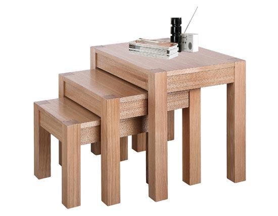 Cyprus Ashwood Nest of 3 Tables