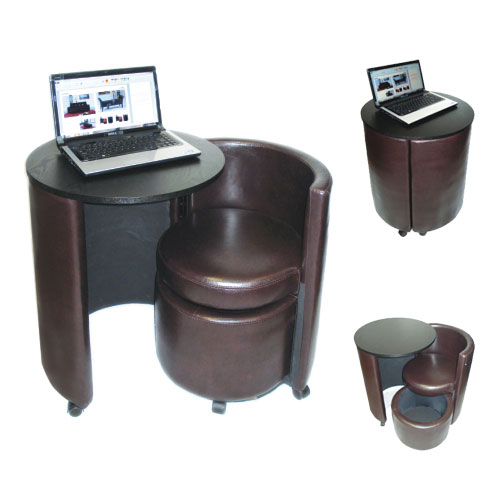 D CH04 Blk laptop table chair - How To Decorate A Flat, Here Are Few of The Tips