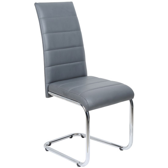 Interesting Grey Leather Chairs Daryl Dining Chair In Pu With Stainless Steel Design Decorating