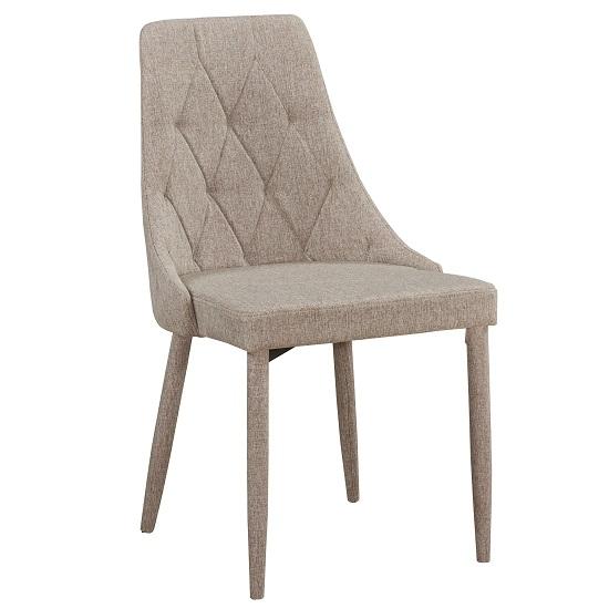 Wilkinson Modern Dining Chair In Beige Fabric
