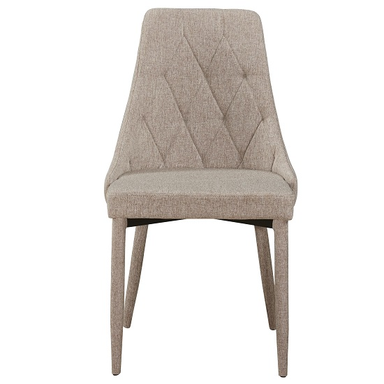 Wilkinson Modern Dining Chair In Beige Fabric_2