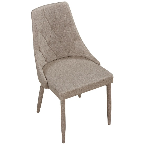 Wilkinson Modern Dining Chair In Beige Fabric_4