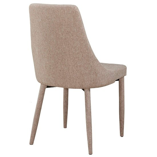 Wilkinson Modern Dining Chair In Beige Fabric_5