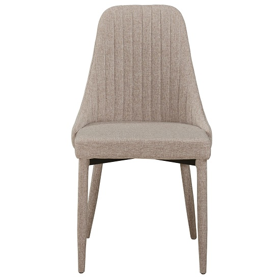 Swansea Contemporary Dining Chair In Beige Fabric